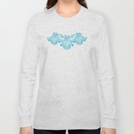 Vintage Lace Blue Hankies Long Sleeve T-shirt