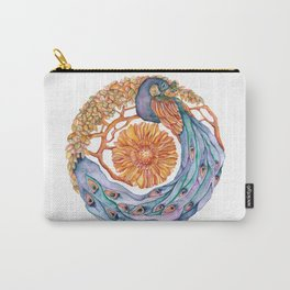 peacock at peace mandala Carry-All Pouch