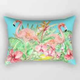 Flamingo Garden Rectangular Pillow