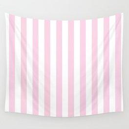 Pastel pink white modern geometric stripes Wall Tapestry