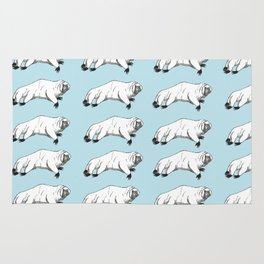 tardigrade (water bear) pattern Rug