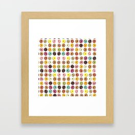 Eat all the donuts Framed Art Print