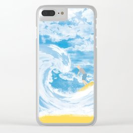 Surfer Clear iPhone Case