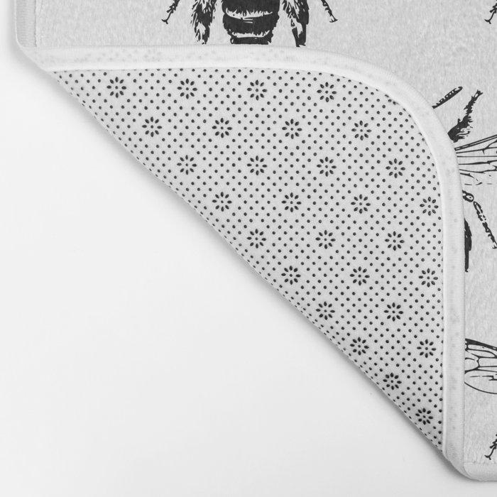 The Bee's Knees Black Bath Mat