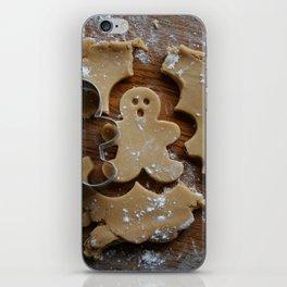 Gingerbread man iPhone Skin