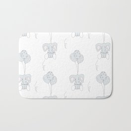 Elephants with Balloons Bath Mat