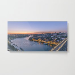 The view from Serra do Pilar - Porto and Gaia Metal Print