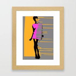Graffiti Style Fashion Art - By Dominic Joyce Framed Art Print