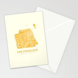 San Francisco City Map 03 Stationery Cards