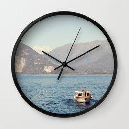 Boat on Lago Maggiore Wall Clock
