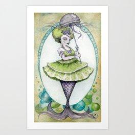 Umbrella Mermaid Art Print