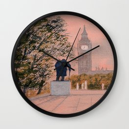 Churchill And Big Ben Wall Clock