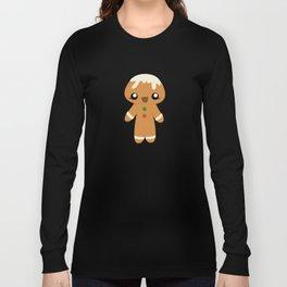 Christmas Card - Gingerbread Kid Long Sleeve T-shirt