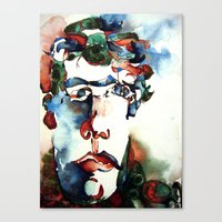 danny ivan Canvas Prints featuring Ivan by ellen z salov