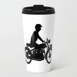 Motor Cyclist Silhouette Travel Mug