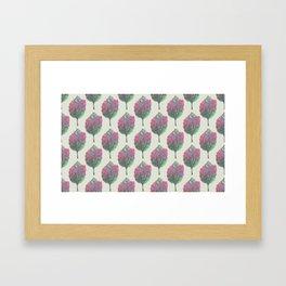 crepe myrtle pattern Framed Art Print