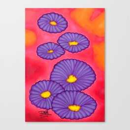 Purple Flowers - Mazuir Ross Canvas Print