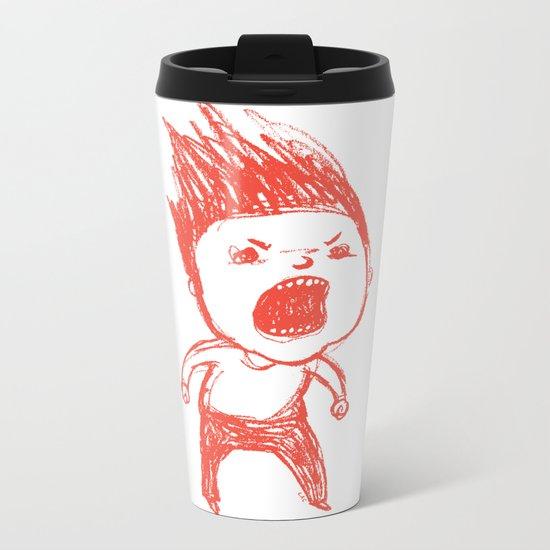 Angry Guy Metal Travel Mug