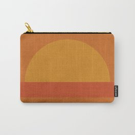 Retro Geometric Sunset Carry-All Pouch