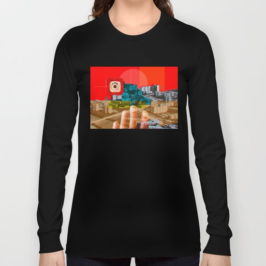 Vintage City · We build this city · Stadtplanung Long Sleeve T-shirt