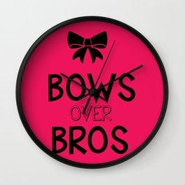Bows over bros Wall Clock