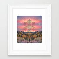 moon phases Framed Art Prints featuring Phases by Rachel Thornton