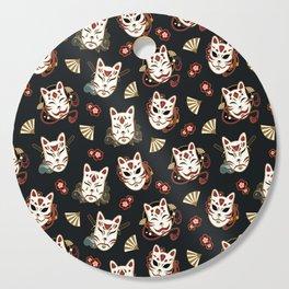 Kitsune Mood Masks Cutting Board