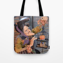 Rucus Studio Maddie the Eccentric Witch Tote Bag