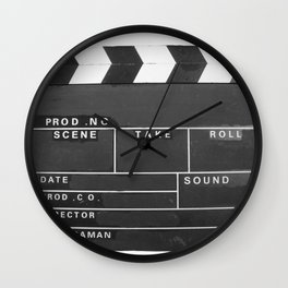 Film Movie Video production Clapper board Wall Clock