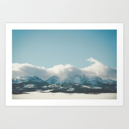 Bridger Mountain Cloud Cover Art Print