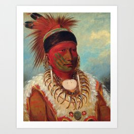 The White Cloud, Head Chief of the Iowas by George Catlin Art Print
