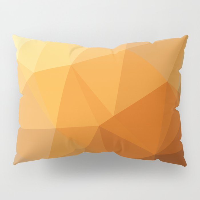 Shades Of Orange Triangle Abstract Pillow Sham