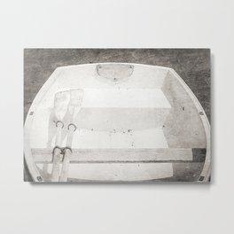Maine Cove Boat Metal Print