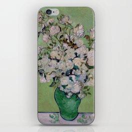Vincent van Gogh Vase with Pink Roses iPhone Skin
