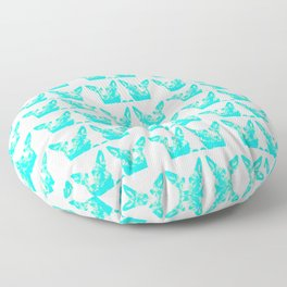 Mitzi blue and white, pattern Floor Pillow