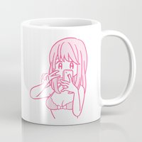 selfie Mugs featuring Selfie by conix