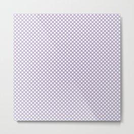 Pastel Lilac and White Polka Dots Metal Print