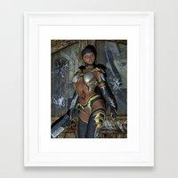 storm trooper Framed Art Prints featuring Storm Trooper by Brian Raggatt