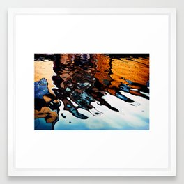Reflections in the Harbour Framed Art Print