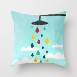 sower rain  Throw Pillow