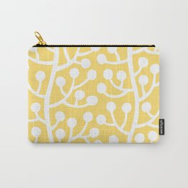 Beautiful Vine Pattern with Berries 732 Yellow Carry-All Pouch