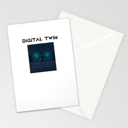 Digital Twin Design for computer scientist Stationery Cards