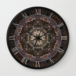 Mandala with ammonites Wall Clock
