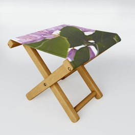 Pink Azalea Flowers with Spring Green Leaves Folding Stool