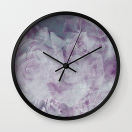 A Floral Bouquet of Clouds Wall Clock