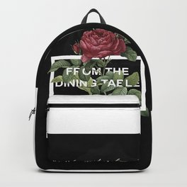 Harry Styles From the dining table graphic artwork Backpack