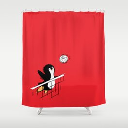 Flying Penguins Shower Curtain