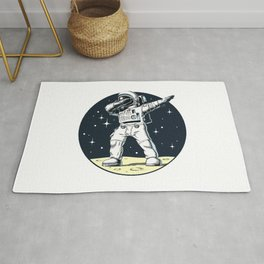 Dabbing Astronaut Funny Space Dance Rug