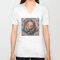 leo V-neck T-shirts featuring Leo by Heinz Aimer