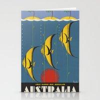 australia Stationery Cards featuring AUSTRALIA by Kathead Tarot/David Rivera